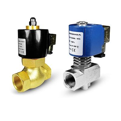 Horúca voda a vodné solenoidové ventily 180 ° C
