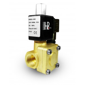 Elektromagnetický ventil otvorený 2K15 NO 1/2 palca 230V alebo 12V 24V