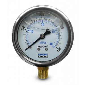 Glycerínový manometer 400 bar