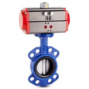 Uzatváracia klapka, škrtiaca klapka DN100 s pneumatickým pohonom AT83