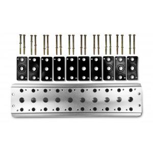 Kolektorová doska na pripojenie 10 ventilov 1/4 série 4V2 4A, skupinový ventilový terminál 5/2 5/3