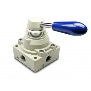 Ručný ventil 4/3 4HV230-08 1/4 palcové pohony