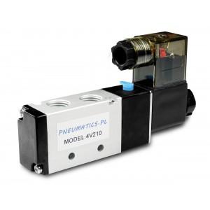 Elektromagnetický ventil k pneumatickým valcom 4V210 5/2 1/4 230V 12V 24V