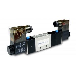 Elektromagnetický ventil 5/3 4V230P 1/4 palca pre pneumatické valce 230V alebo 12V, 24V