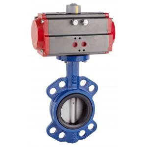 Uzatváracia klapka, škrtiaca klapka DN80 s pneumatickým pohonom AT75
