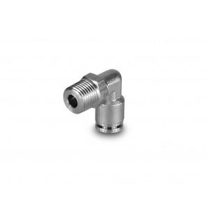 Zástrčka vsuvka zahnutá hadica z nehrdzavejúcej ocele 10 mm závit 1/4 palca PLSW10-G02