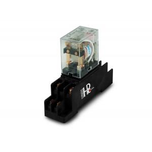 Relé 10A 2x NO / NC s päticou pre montáž na DIN lištu