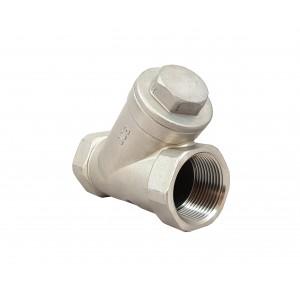 Spätný ventil typu Y DN15 1/2 palca - nehrdzavejúca oceľ SS316