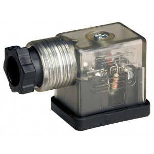Pripojenie k elektromagnetickému ventilu DIN 43650B s LED - malé