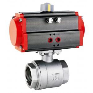 Guľový kohút z nehrdzavejúcej ocele 1/2 palca DN15 s pneumatickým pohonom AT40