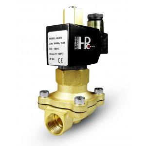 Elektromagnetický ventil otvorený 2N25 NO 1 palec 230V alebo 12V, 24V, 42V
