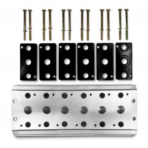Kolektorová doska na pripojenie 6 ventilov 1/4 série 4V2 4A, skupinový ventilový terminál 5/2 5/3
