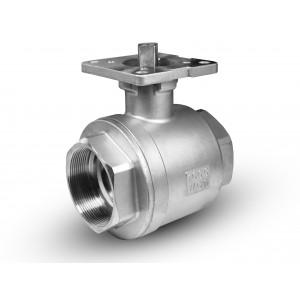 Guľový kohút z nehrdzavejúcej ocele 2 palce montážna doska DN50 ISO5211