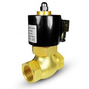 Elektromagnetický ventil pre paru a vysokú teplotu. 2L40 DN40 180 ° C 1 1/2 palca