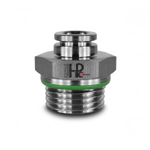 Vsuvka vsuvka rovná nerezová hadica 8 mm závit 3/8 palca PCS08-G03