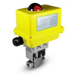 Vysokotlakový guľový ventil 1/4 palca SS304 HB22 s elektrickým pohonom A250
