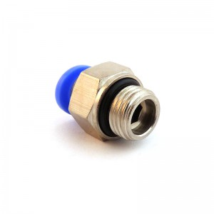 Vsuvka vsuvka rovná hadica 8 mm závit 1/8 palca PC08-G01