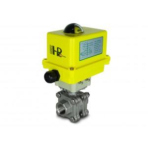 3/4 palcový vysokotlakový guľový ventil DN20 PN125 Aktuátor A250