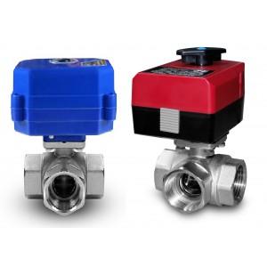 3-cestný guľový ventil 1 palec s elektrickým pohonom A80 alebo A82