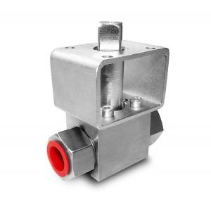 Vysokotlakový guľový ventil 1/2 palcový montážny plech SS304 HB22 ISO5211