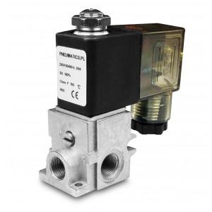 Elektromagnetický ventil R23 1/8 2 alebo 3-cestný kombinovaný do skupín
