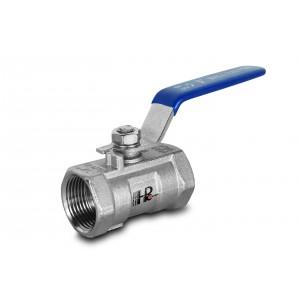 Guľový ventil z nehrdzavejúcej ocele 1/2 palca DN15 s ručnou pákou - 1 kus