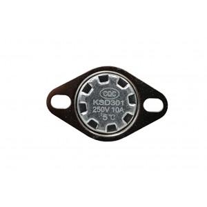Bimetalový termostat, snímač teploty NC 5 ℃ 10A, 230 VAC, typ KSD301