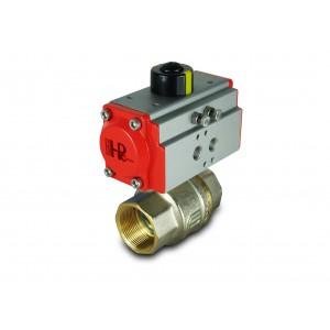Mosadzný guľový ventil 1 1/2 palca DN40 s pneumatickým pohonom AT52