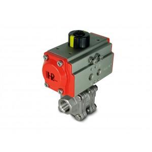 3/4 palcový vysokotlakový guľový ventil DN20 PN125 s pneumatickým pohonom AT52