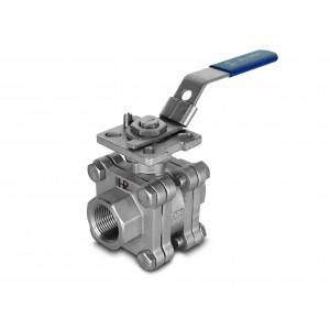 1/2 palcový vysokotlakový guľový ventil DN15 PN125