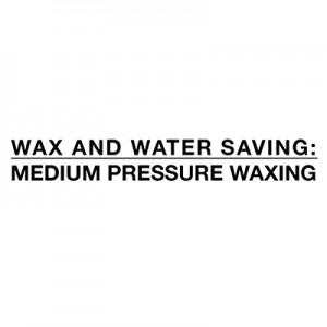 Úspora vody a vosku - voskovanie stredným tlakom