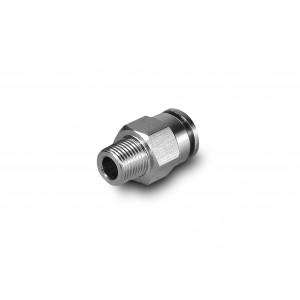 Vsuvka vsuvka rovná nerezová hadica 6 mm závit 1/4 palca PCSW06-G02